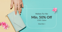 Get Upto 50% Off On Wallets (For Women Only)