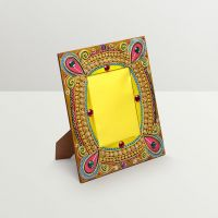 Aapno Rajasthan Beautiful Wooden Photo Frame With Delicate Clay Work
