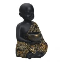 Aapno Rajasthan Cute And Charming Golden Black Child Statue Showpiece
