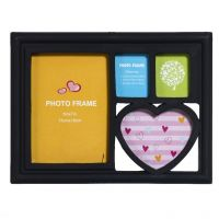 Aapno Rajasthan Dark Black 4 Pictures Collage Photo Frame
