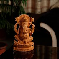 Aapno Rajasthan Finely Carved Ganesh Brown
