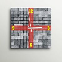 ArtEdge Grunge Black And White Wall Clock