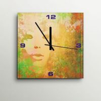 ArtEdge Grunge Girl Face Wall Clock