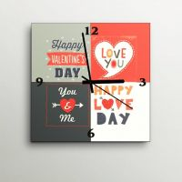 ArtEdge Valentines Day Wall Clock