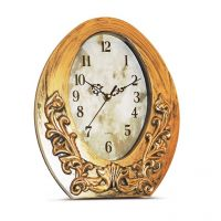 Browse House Victorian Style Antique Gold Finish Oval Wall Clock
