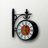 Carnations Beautiful 2 Sided Station Clock