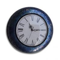 Flourish Concepts Handcrafted Blue Wall Clock