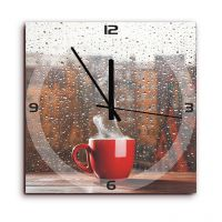 Height Of Designs Morning Coffee Wall Clock