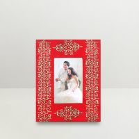 Kraftorium Ethnic Rajasthani Hand Painted Alluring Photo Frame Red