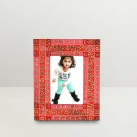 Kraftorium Ethnic Rajasthani Hand Painted Photo Frame Pink