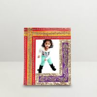 Kraftorium Ethnic Rajasthani Hand Painted Trendy Photo Frame