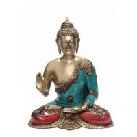 Pure Divine Debating Buddha With Beads And Stones