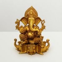 Pure Divine Ganesha Sitting On Elephant Trunk Base