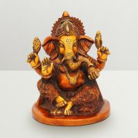 Pure Divine Ganesha With Ladoo Red