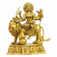Pure Divine Goddess Durga Golden
