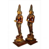 Pure Divine Lady Pair With Hands Folded Set of Two Pieces