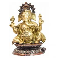 Pure Divine Lord Ganesha Golden Red