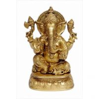 Pure Divine Sitting Chaturbhuja Shree Ganesha
