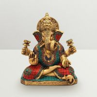 Pure Divine Sitting Ganesha With Lotus