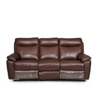 HomeTown Lancaster Three Seater Sofa Dark Brown