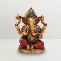 Pure Divine Blessing Ganesha Green And Red