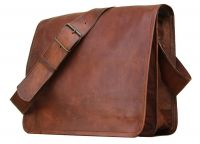 Leather Bag Vintage Handmade Real Full Flap Crossbody Satchel Laptop Messenger Bag By Pranjals house