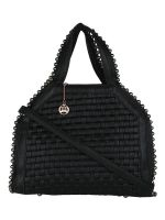 Moedbuille Black Polyurethane (PU) Hobo Bag