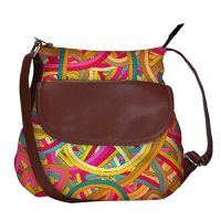 Seamless Abstract Hand Drawn Waves Pattern obo, Ethnic Hobo Bag, Aztec Hobo Bag, Native Style Bag, Large Hobo...