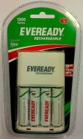 Eveready 1000 Series with 4 AA Rechargeable battery 700 mAh Battery Charger