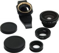 Fotonica Universal 3 in 1 Cell Phone Camera Lens KitBlack Mobile Phone LensWide and Macro