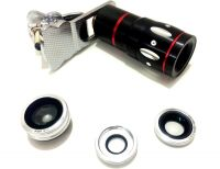 Seasonz International Universal 4 in 1 Mobile Lens KitSilver Mobile Phone LensWide and Macro