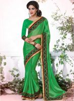 Indian Women By Bahubali Green Embroidered Saree