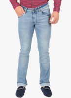 Oxemberg Blue Mid Rise Slim Fit Jeans