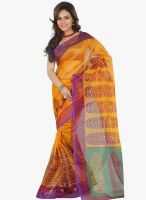 Lookslady Yellow Printed Saree