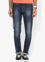 Forca By Lifestyle Blue Mid Rise Skinny Fit Jeans