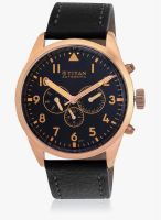 Titan 90003Wl01J Black/Black Chronograph Watch