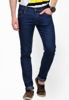 Yepme Solid Blue Regular Fit Jeans