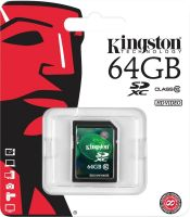 Kingston 64 GB SDXC Class 10 30 MB/s Memory Card