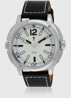 Dvine Sd7032-Wt01 Black/White Analog Watch