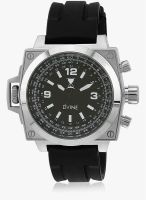 Dvine Sd 7024-Bk01 Black/Black Analog Watch