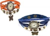 H.P.D Butterfly Combo Bracelet Look Analog Watch - For Women