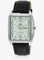 Q&Q S204-001Y-Sor Black/White Analog Watch