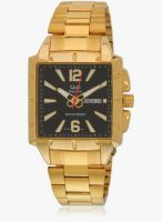 Q&Q S204-010Y-Sor Golden/Golden Analog Watch