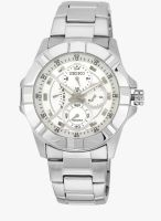 Seiko Srl065p1-Sor Silver/White Analog Watch