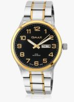 Omax Ss-501 Silver/Black Analog Watch