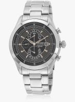 Seiko Seiko Dress Black/Silver Chronograph Watch