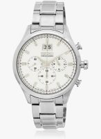 Seiko SPC079P1-S Silver/White Chronograph Watch