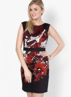 French Connection Red Colored Printed Bodycon Dress