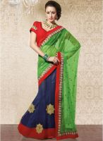 Vishal Green Embroidered Saree