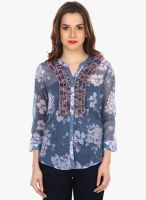 Colors Couture Grey Printed Shirt